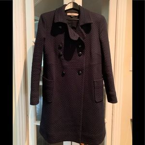 Vintage Red Valentino navy long coat. Size 46